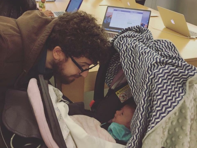 Computer dads and babies