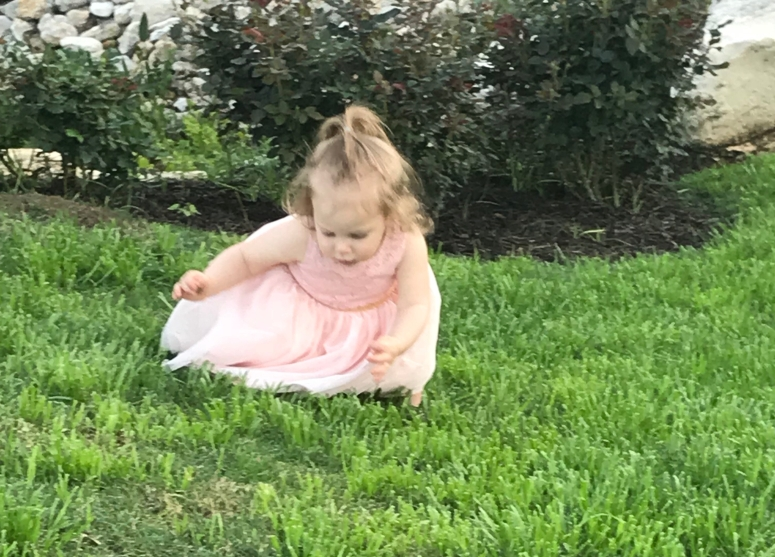 Girl in grass